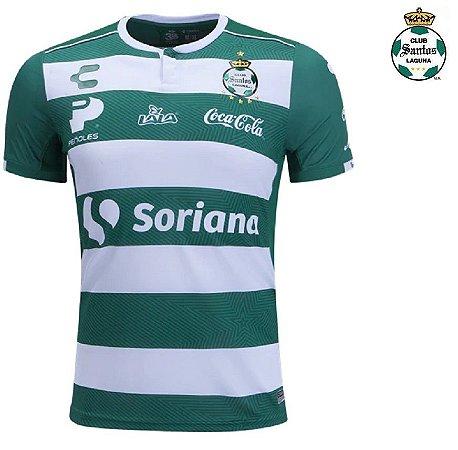 f69f60ff42 Camisa Club Santos Laguna 2018-19 (Home-Uniforme 1) - ACERVO DAS CAMISAS