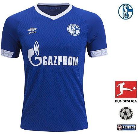 4a2ebacc07 Camisa Schalke 04 2018-19 (Home-Uniforme 1) - ACERVO DAS CAMISAS