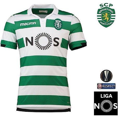 Camisa Sporting 2018-19 (Home-Uniforme 1) - ACERVO DAS CAMISAS acd3f2978734f