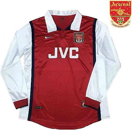 bc05a9365f08d Camisa Arsenal 1998-99 (Home-Uniforme 1) - manga longa - ACERVO DAS ...