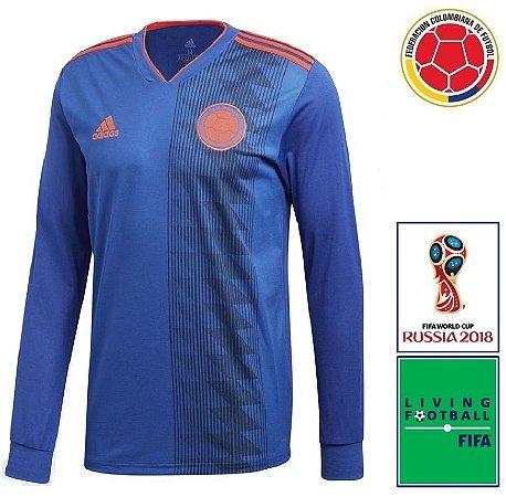 Camisa Colômbia 2018-19 (Away-Uniforme 2) - Climalite