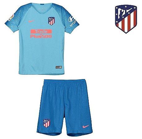 Conjunto Infantil (Camisa + Shorts) Atlético de Madrid 2018-19 (Away ... 38af839893ba4