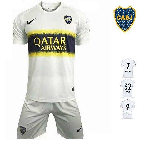 Conjunto Infantil (Camisa + Shorts) Boca Juniors 2018-19 (Away-Uniforme a632ff880b085