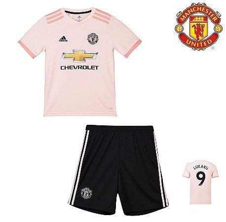 67b3cb8040 Conjunto Infantil (Camisa + Shorts) Manchester United 2018-19 (Away-Uniforme