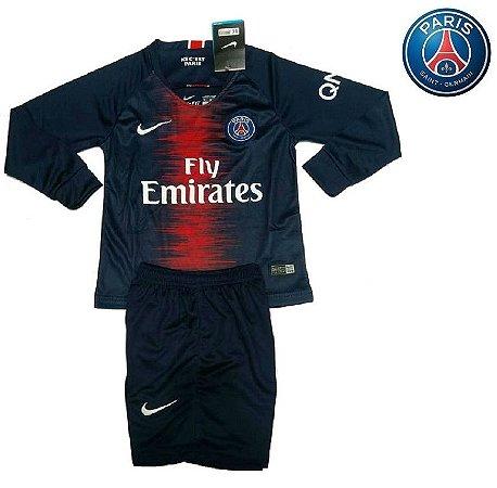 efa7e9811 Conjunto Infantil (Camisa + Shorts) Paris Saint Germain