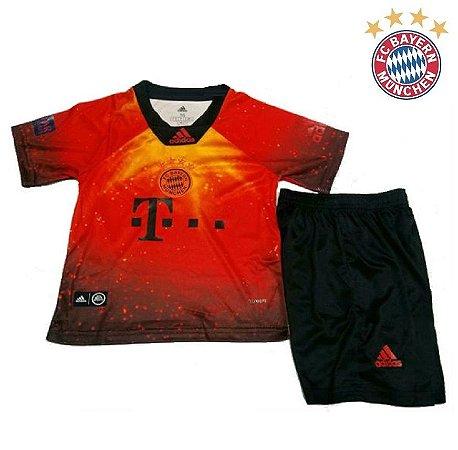 b8fab6a525 Conjunto Infantil (Camisa + Shorts) Bayern Munich FIFA 2019 EA Sports
