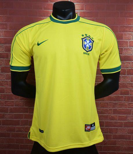 Camisa Brasil Copa do Mundo 1998  (Home-Uniforme 1)