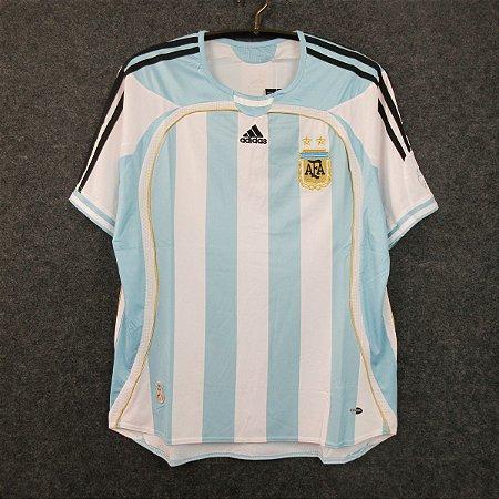 Camisa Argentina 2006 Copa do Mundo  (Home-Uniforme 1)