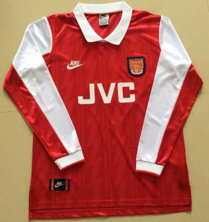 Camisa Arsenal 1994-1995 (Home-Uniforme 1) - Manga Longa