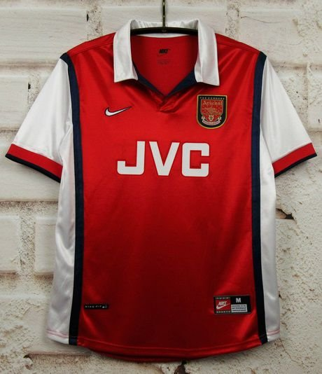 Camisa Arsenal 1998-1999 (Home-Uniforme 1)