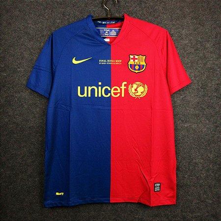 Camisa Barcelona 2008-2009 (Home-Uniforme 1) -Final Champions League