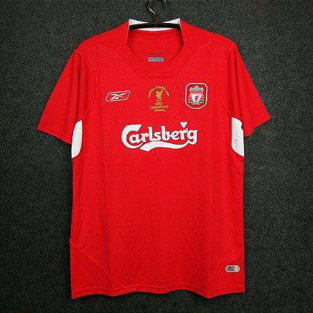 Camisa Liverpool  2004-2005 (Home-Uniforme 1) - Final Champions League