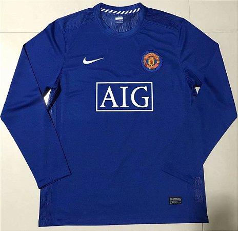 Camisa Manchester United 2008-2009 (Third-Uniforme 3) - Manga Longa