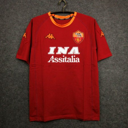 Camisa Roma 2000-2001 (Home-Uniforme 1)