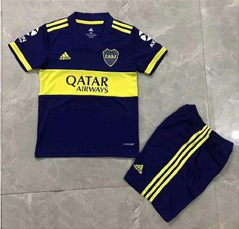 Conjunto Infantil (Camisa + Shorts) Boca Juniors 2020-21 (Home-Uniforme 1)