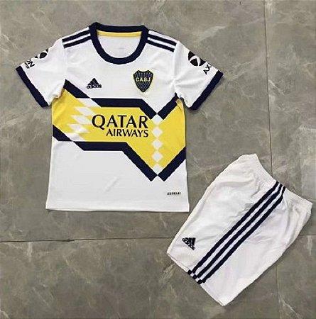 Conjunto Infantil (Camisa + Shorts) Boca Juniors 2020-21 (Away-Uniforme 2)