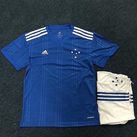 Conjunto Infantil (Camisa + Shorts) Cruzeiro 2020 (Home-Uniforme 1)