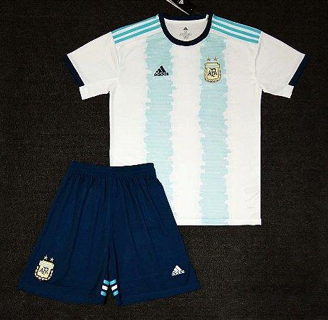Conjunto Infantil (Camisa + Shorts) Argentina 2019 (Home-Uniforme 1)