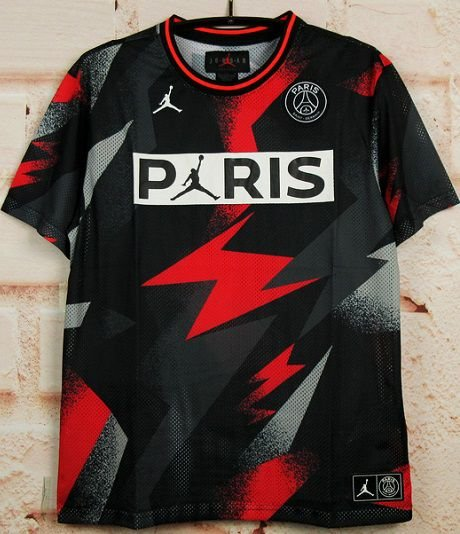 "Camisa Paris Saint Germain ""PSG"" 2019-20 (M e s h - Preta)"
