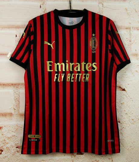 Camisa Milan (Comemorativa 120 anos de fundação do clube)