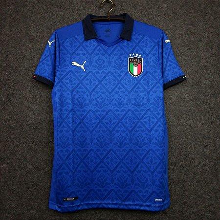 Camisa Itália 2020-21 (Home-Uniforme 1) - Modelo Torcedor