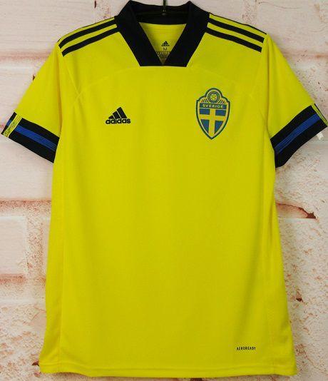 Camisa Suécia 2020-21 (Home-Uniforme 1) - Modelo Torcedor