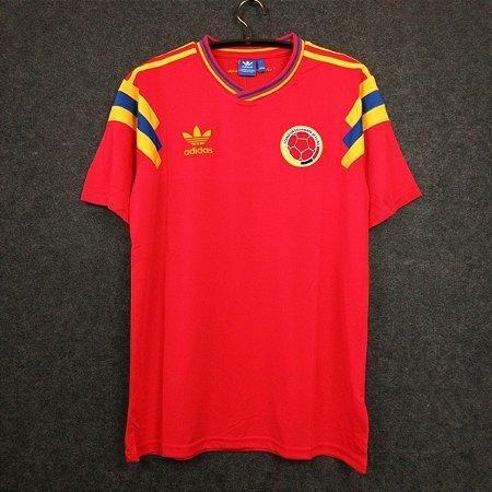 Camisa Colômbia Copa do Mundo 1990 (Away-Uniforme 2)