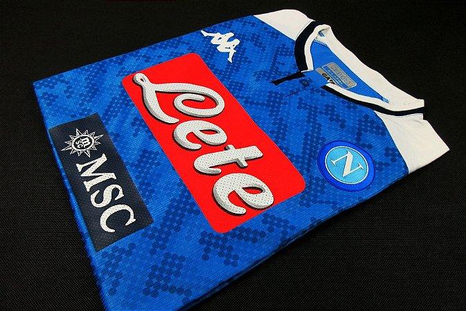 Camisa Napoli 2019-20 (Home-Uniforme 1) - Modelo Jogador