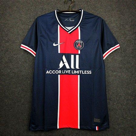 Camisa Paris Saint Germain 2020-21  (Home-Uniforme 1)  - Modelo Torcedor