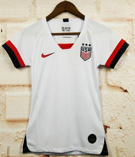 Camisa EUA 2019 (Home-Uniforme 1) - Feminina