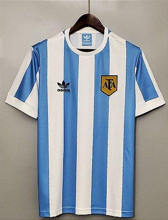 Camisa Argentina 1978 Copa do Mundo  (Home-Uniforme 1)