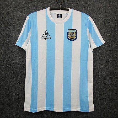 Camisa Argentina 1986 Copa do Mundo  (Home-Uniforme 1)