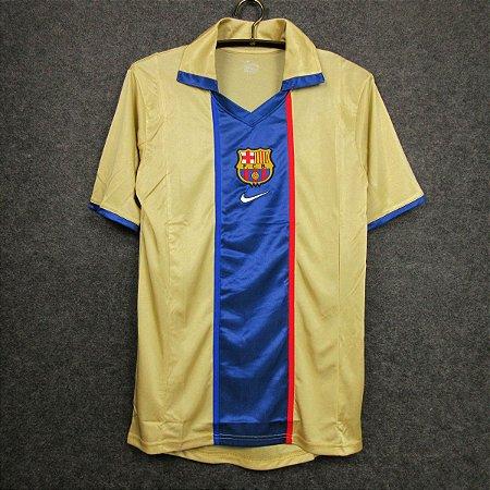 Camisa Barcelona 2001-2002 (Away-Uniforme 2)