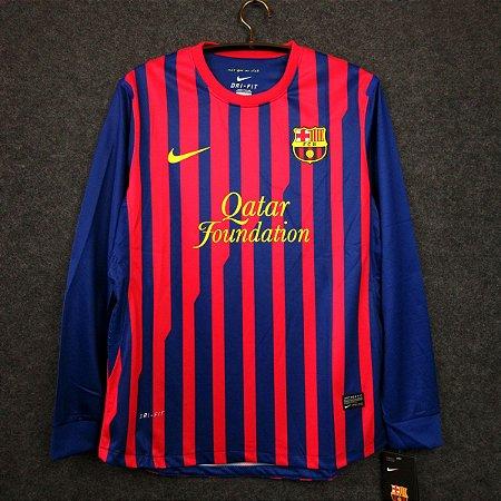 Camisa Barcelona 2011-12 (Home-Uniforme 1) - Manga Longa