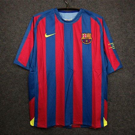 Camisa Barcelona 2005-2006 (Home-Uniforme 1) - Final Champions League
