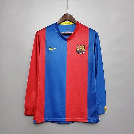 Camisa Barcelona 2006-2007 (Home-Uniforme 1) - Manga Longa