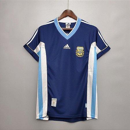 Camisa Argentina 1998 Copa do Mundo  (Away-Uniforme 2)