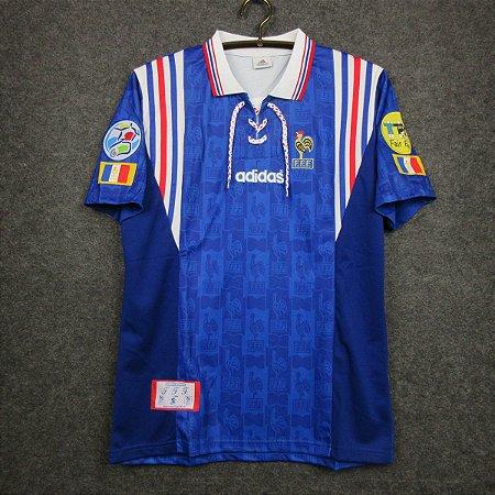 Camisa França 1996  (Home-Uniforme 1) - Eurocopa