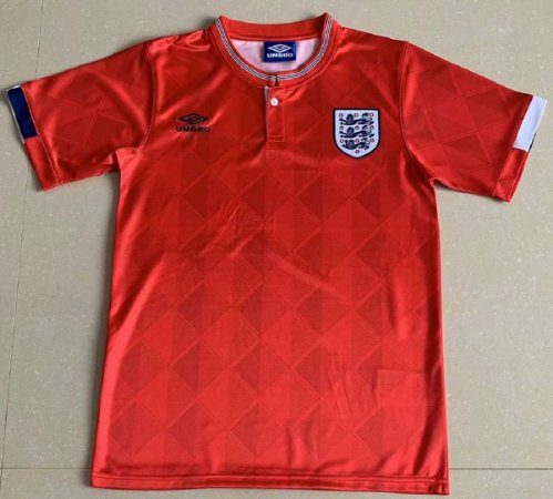 Camisa Inglaterra 1989 (Away-Uniforme 2)