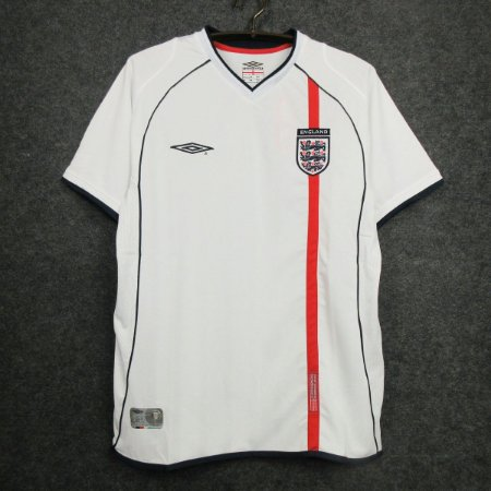 Camisa Inglaterra  2002 (Home-Uniforme 1) - Copa do Mundo