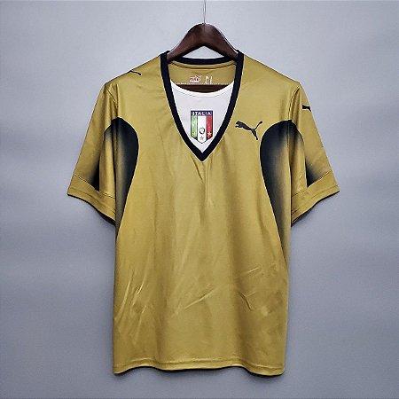 """Camisa Itália """"GOLEIRO""""  2006 (Home-Uniforme 1)  - Copa do Mundo"""