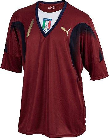 """Camisa Itália """"GOLEIRO""""  2006 (Away-Uniforme 2)  - Copa do Mundo"""