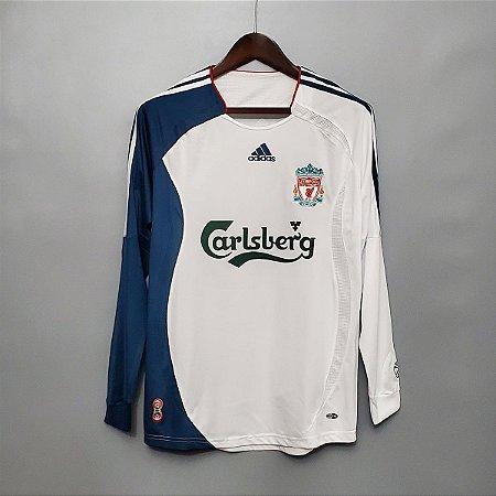 Camisa Liverpool 2006-2007 (Away-Uniforme 2) - Manga Longa