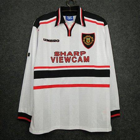 Camisa Manchester United 1998-1999 (Away-Uniforme 2) - Manga Longa