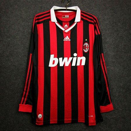 Camisa Milan 2009-2010 (Home-Uniforme 1) - Manga Longa