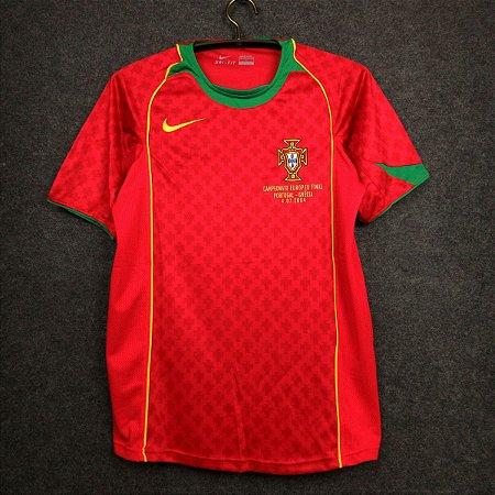 Camisa Portugal 2004 (Home-Uniforme 1) - Eurocopa