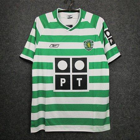 Camisa Sporting 2003-2004 (Home-Uniforme 1)