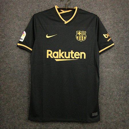 Camisa Barcelona 2020-21 (Away-Uniforme 2) - Modelo Torcedor