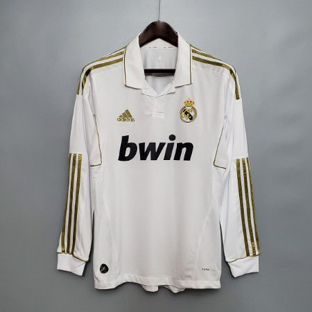 Camisa Real Madrid 2011-2012 (Home-Uniforme 1) - Manga Longa