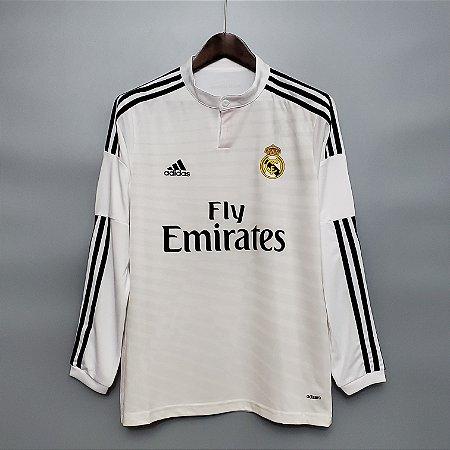 Camisa Real Madrid 2014-2015 (Home-Uniforme 1) - Manga Longa